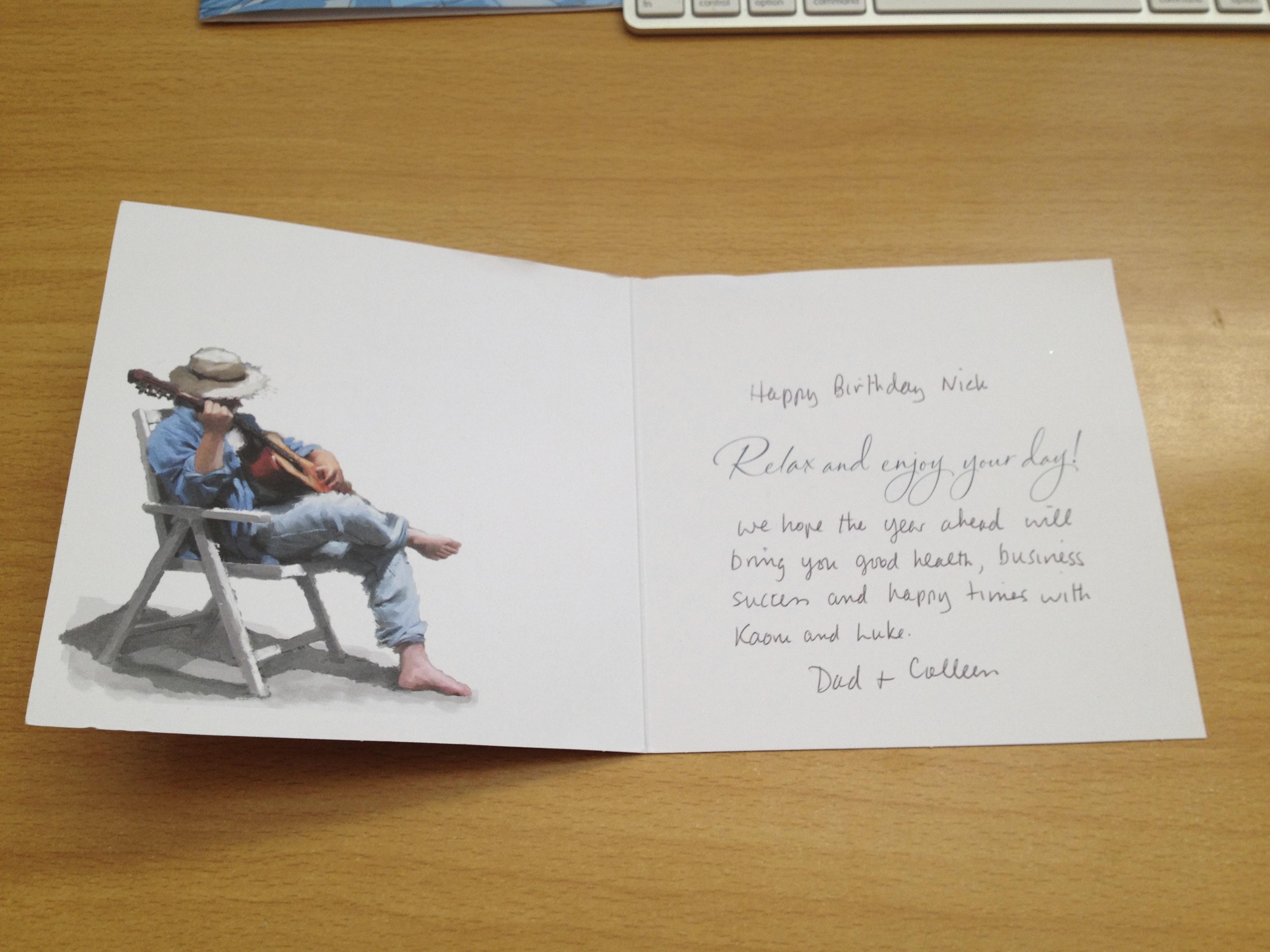 誕生 日 手紙 例文